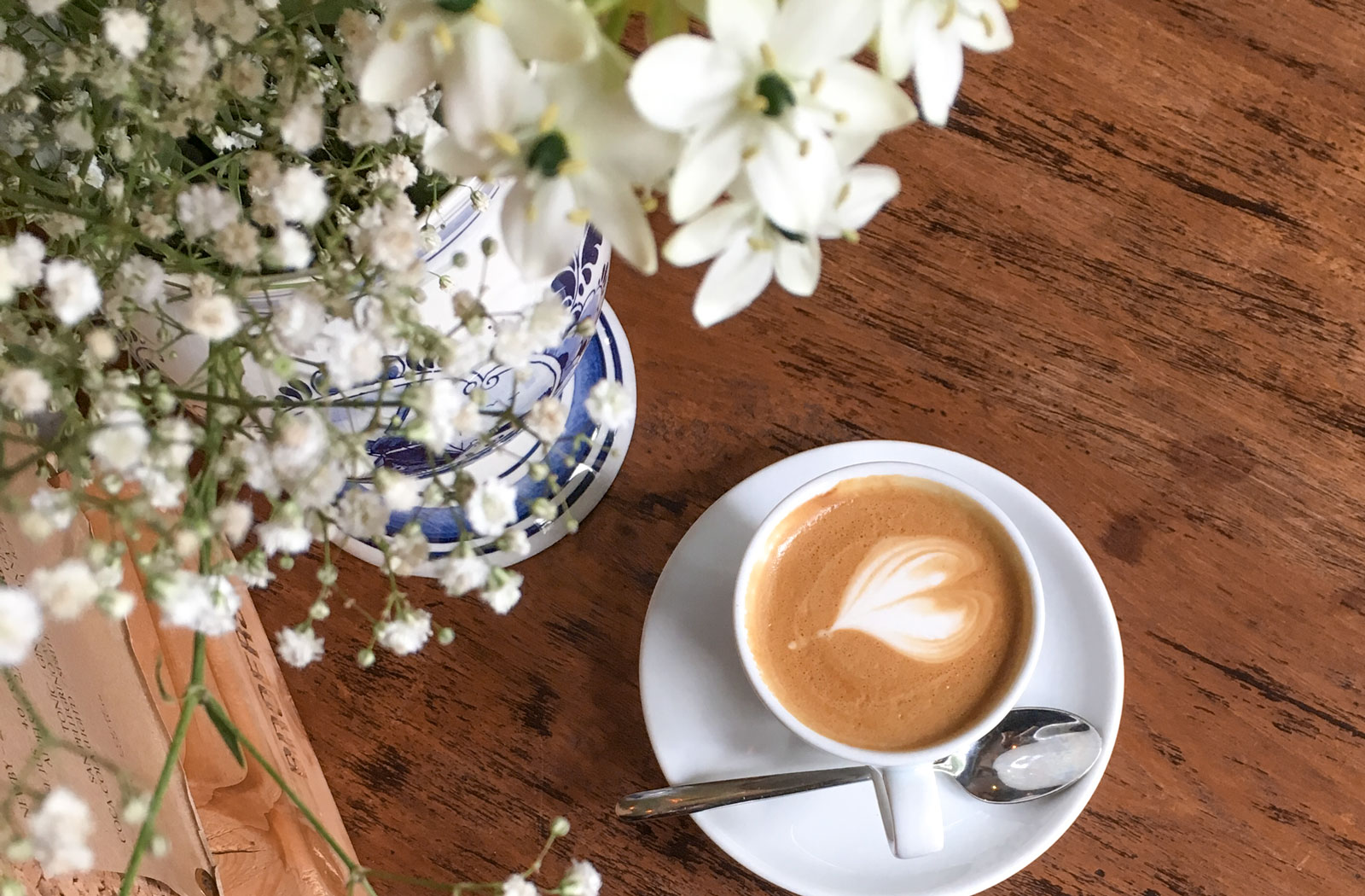 Food Photography - Coffee and flowers