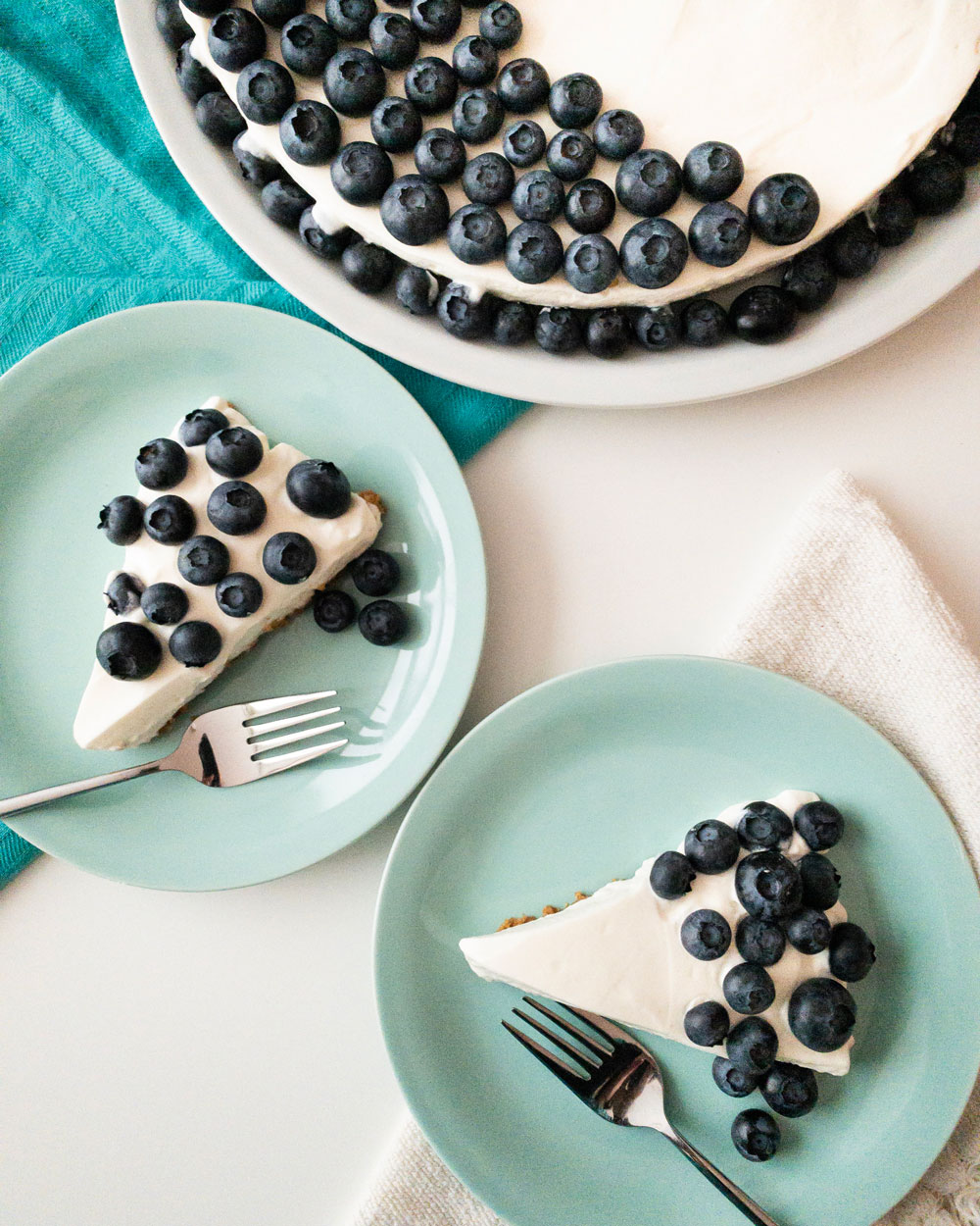 Food photography Blueberry cheescake
