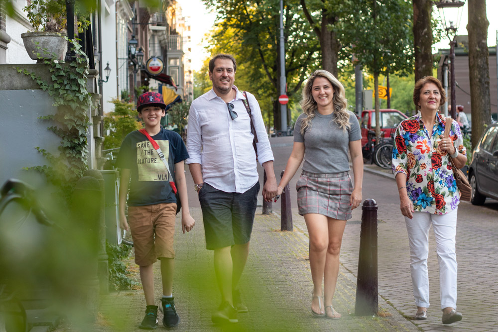 Family photo from a photosession in Amsterdam. Travel memories to carry forever.