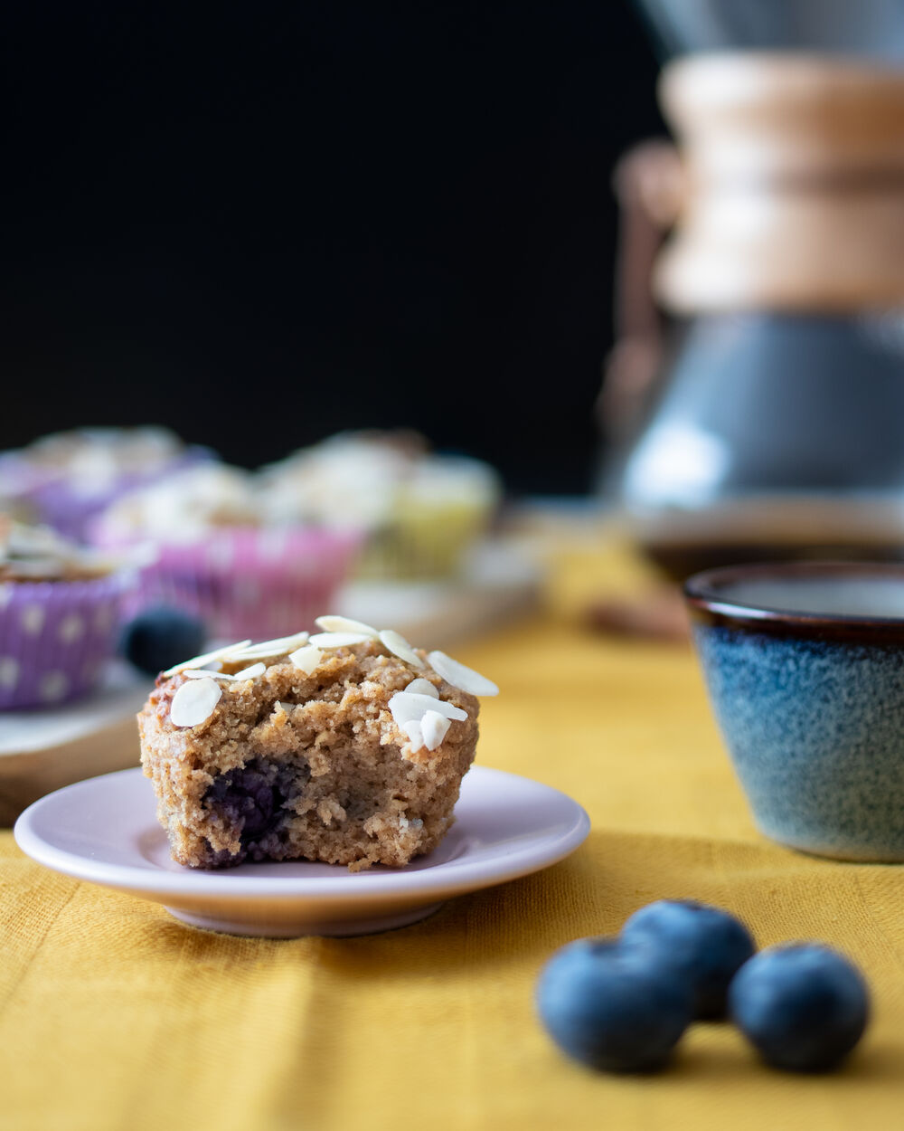 Food Photography Blueberry Muffin