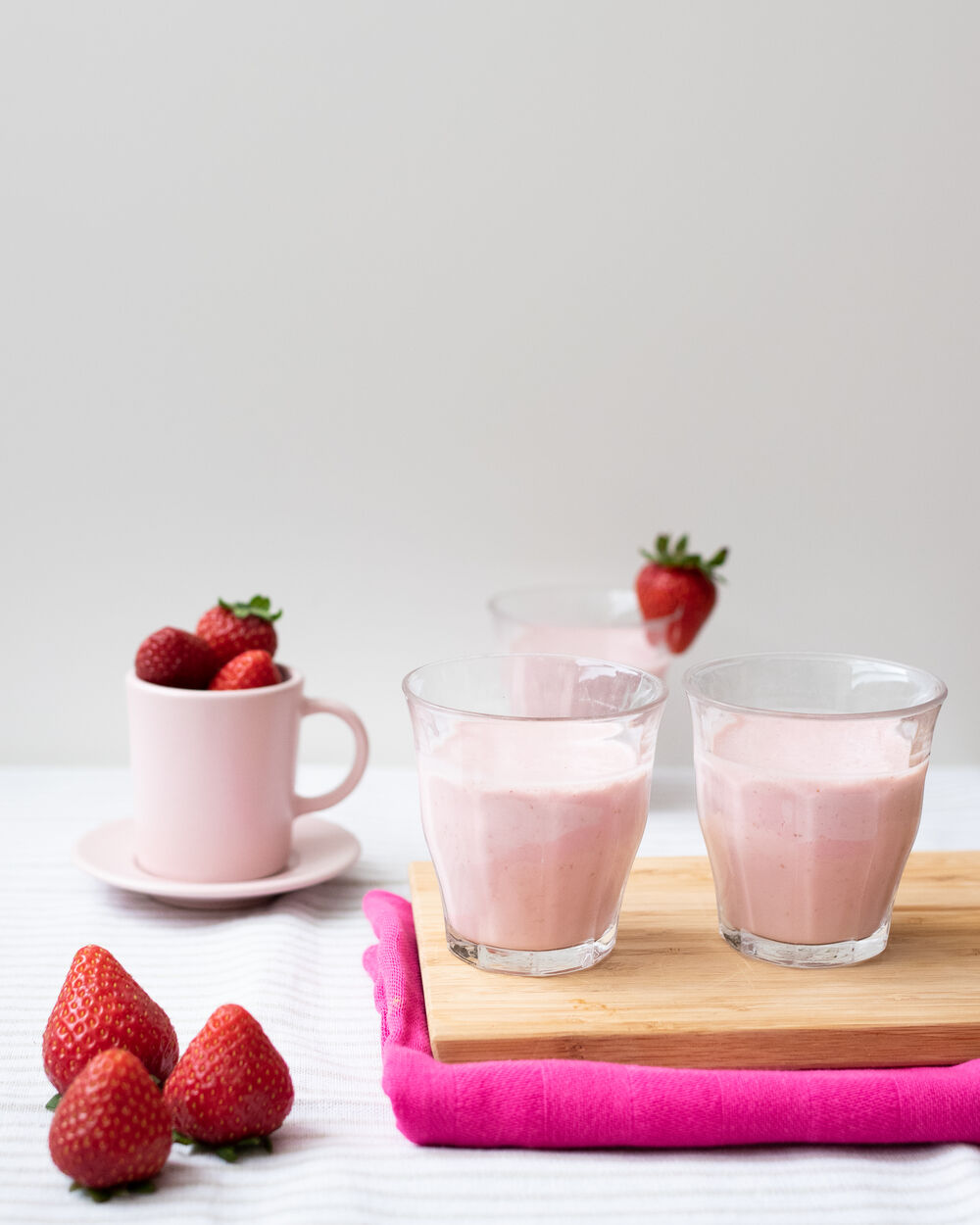 Food Photography Strawberry Smoothie